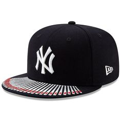 Men's New Era Navy New York Yankees Spike Lee Champion Collection Bill Logo Fitted Hat Yankees Gear, Yankees Logo, New York Yankees, Yankees Merchandise, Bills Logo, Nba Hats, Dope Hats, Spike Lee, New Era Hats