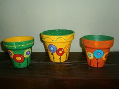 Cactus, Painted Pots, Clay Pots, Potted Plants, Planters, Diy, Pretty, Beauty, Painted Flower Pots