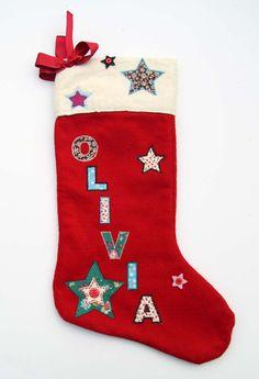 Luxury Personalised Handmade Christmas Stocking Gift - Name: Olivia Roses Luxury, Vintage Fabrics, Handmade Christmas, Christmas Stockings, Handmade Gifts, Holiday Decor, How To Make, Needlepoint Christmas Stockings, Kid Craft Gifts