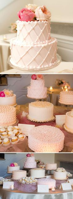 I like this idea for my sweets table.... instead of a traditional wedding cake