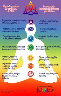 Chakra Balancing Gems #health #chakras #balance