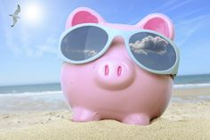 Photo about Pink piggy bank on a beach with sunglasses. Image of loan, human, debt - 41922497 Pink Piggy Bank, Holiday Money, Beach Sunglasses, Best Travel Deals, Graphic Design Software, Business Travel, Trip Advisor, Traveling By Yourself, Good Things