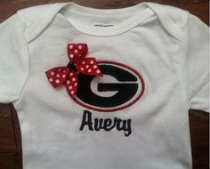 SEC Game Day Onesie Georgia Bulldogs with by SewDesignsByLeAnn, $25.00