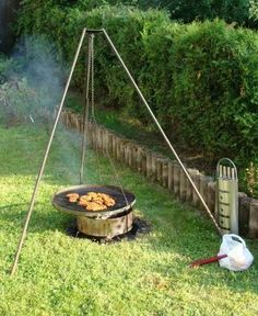 How to build a Schwenker German-style suspended grill. The latest foodie craze in Portland - did you catch that, #Seattle?