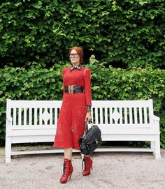 The wardrobe of Ms. B: A lot of red