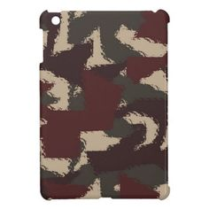 Abstract Military Camouflage Pattern iPad Mini Case, by FOMAdesign