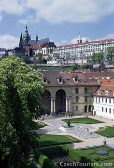 Prague Castle and Valdstein Garden, Czech Republic.