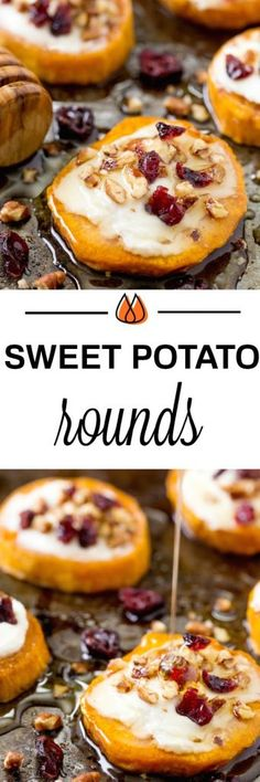 sweet potato goat cheese rounds collage