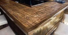 Wood Countertops are the perfect compliment to your kitchen decor! #reclaimedwood #barnwood #countertops #woodcounters Barn Siding, Fire Grill, Wood Countertops, Reclaimed Barn Wood, Wood Planks, Cool Diy Projects, Open Concept, Open Shelving, Wood Furniture