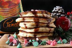 This might very well be the perfect breakfast on Christmas morning. Gluten-free Peppermint Pancakes by Nutmeg Nanny.