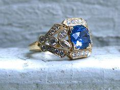 Marquise Cut Diamond, Diamond Studs, Diamond Engagement Rings, Vintage Engagement Rings, Vintage Floral, Unique Vintage, Ceylon Sapphire, Sapphire Rings, Wedding Rings