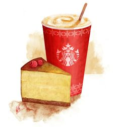 Starbucks Winter Fest Campaign on Illustration Served