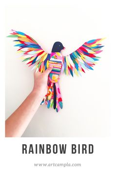 """""""You will never find a rainbow if you are looking down. Preschool Art, Craft Activities For Kids, Projects For Kids, Diy For Kids, Crafts For Kids, Arts And Crafts, Feather Crafts, Bird Crafts, Feather Art"""