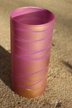 Plum and Gold Painted Vase by GinaDavisDesigns on Etsy, $18.00