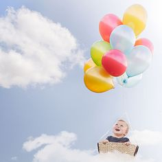 Child fantasy balloon photoshoot - South Wales Child Photography by Sweet Whimsy Photography