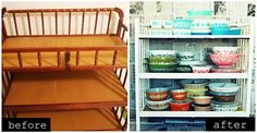 From baby changing table to Kitchen storage
