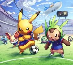Pokemon Futbol HD Desktop Wallpaper