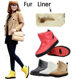 Winter Boots Women Warm Boots Short Ankle Snow Boots Winter boots ...