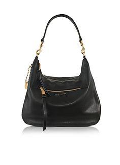 32f3c31da94a Marc+Jacobs+Recruit+Black+Leather+Hobo Marc Jacobs Designer