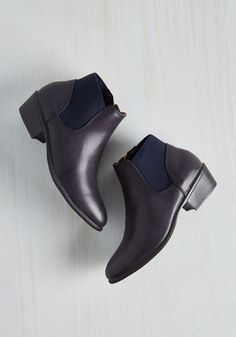 School of Walk Bootie in Navy From the Plus Size Fashion Community at www.VintageandCurvy.com
