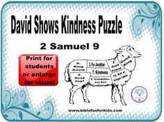 David And Jonathan Bible Activity Sheet From
