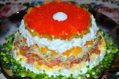 Слоеный салат «Жемчужина» — Вкусно ем — Домашняя кулинария
