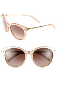These nude and metallic Chloé sunglasses complete every outfit.