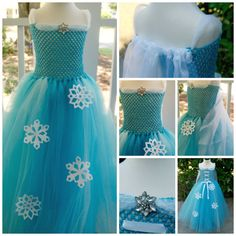Frozen Elsa Tutu Dress Girls Queen Elsa Dress  by OhHoneyBowtique, $65.00+