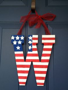 Patriotic door hanger.