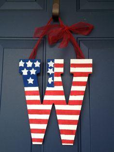 Patriotic door hanger.