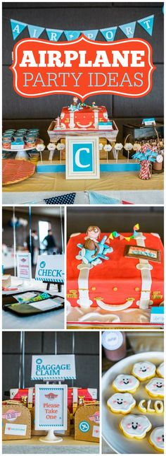 Check out this amazing airplane birthday party! See more party ideas at CatchMyParty.com!
