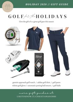 Men's gift guide! For the guy that loves golf! garmin approach golf watch / adidas golf shirt / golf pants / titleist golf glove / automatic putting ball return / golf balls #LTKgiftspo #LTKmens #LTKfamily Click to shop!