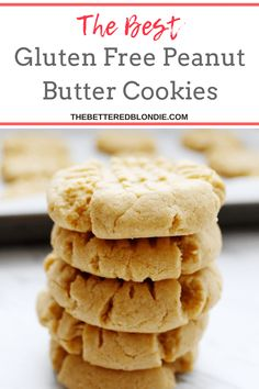 The Best Gluten Free Peanut Butter Cookies - The Bettered Blondie #glutenfree #cookies #glutenfreebaking