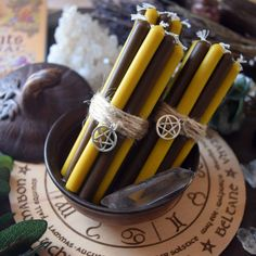 Lughnasadh, Lammas - Wheel of the year - The colors of the candles are matched according to the holidays. - Set of candles - 12 pcs. Wiccan Spells, Candle Spells, Witchcraft, Magic Spells, Magick, Magic Spell Book, Spell Books, Pagan Fashion, Magic Crafts