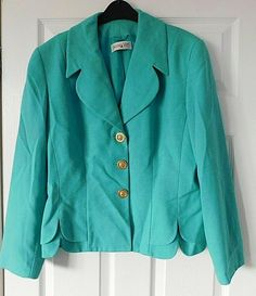 1c5d309e503a8 JACQUES VERT Mint Green Long Sleeve Dressy Jacket Size UK 14 EUR 42 USA 10