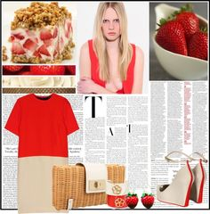 Strawberry Cheesecake - Outfit for Lunch, created by polly-wore on Polyvore