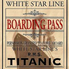 magnetic bookmarks photographs set of 4 Titanic boarding pass;  great stocking stuffer for a reader