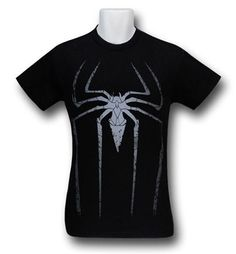 Images of Amazing Spider-Man Movie Symbol Black T-Shirt