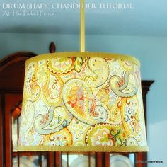 """""""Drum up"""" a new chandelier for your home! My DIY Drum Shade Chandelier Tutorial."""
