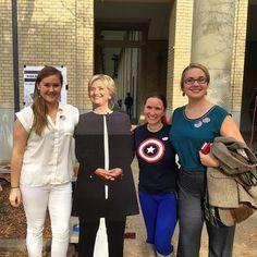 Cap says go vote! #election2016 #electionday #imwithher #nastywomenvote