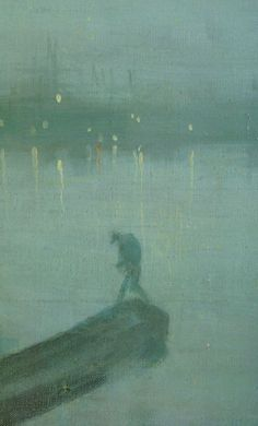 Nocturne: Blue and Gold - Old Battersea Bridge [Detail] -  James McNeill Whistler  1872-77  American, 1834–1903