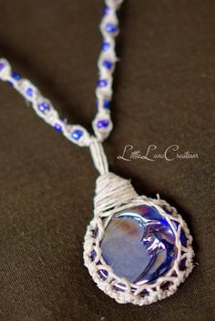 Hemp Wrapped Luna Necklace by LittlexLunaCreations on Etsy, $25.00