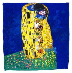 Foulard en soie carré artysilk Le baiser bleu Klimt. Découvrez + de 100  modèles de c8d40a6baa6