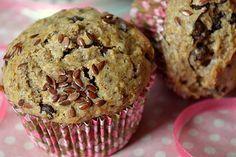 Muffins végétaliens au chocolat et aux graines de lin. . La recette par La cuisine d'Anna et Olivia.