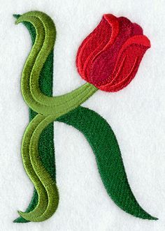 """Tulip Letter """"K"""" For Kimberly Cool Lettering, Lettering Design, Monogram Wallpaper, Picture Letters, Red Tulips, Letter Art, Letters And Numbers, Machine Embroidery Designs, Wallpaper Ideas"""