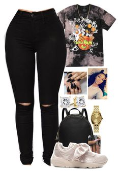 """""""Untitled #2229"""" by basnightshine1015 ❤ liked on Polyvore featuring Puma and Nixon"""