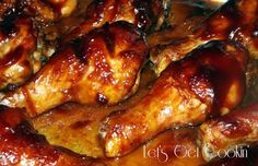 Oven Baked BBQ Chicken Legs -- the marinade makes it soo tender and tasty. Baked Bbq Chicken Legs, Oven Chicken, Jerk Chicken, Good Food, Yummy Food, Pasta, Food Dishes, Main Dishes, Main Meals