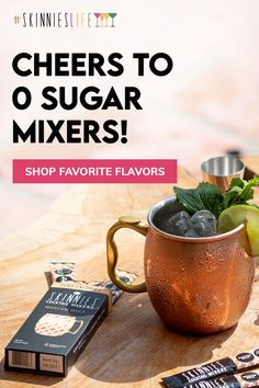 RSVP Skinnies - 0 Sugar, 0 Preservatives and 0 Aspartame. From Margaritas to Moscow Mules grab our delicious mixers for cocktails to go!