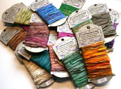 5 Yards Reclaimed Sari Ribbon by Darn Good Yarn   The Best Yarn Store!
