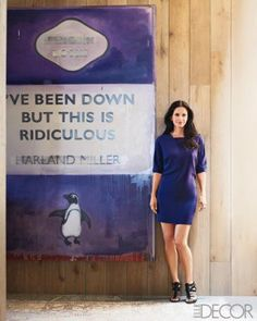 Harland Miller (and Courtney Cox) in Elle Decor